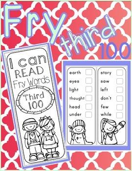 Fry Words Sticker Book - Third 100 Fry Words