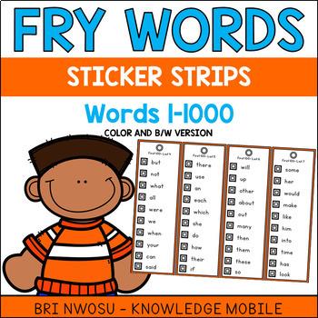 Fry Words Sticker Strips
