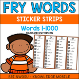 Fry Words Sticker Strips