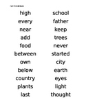 Fry Words Student List 300