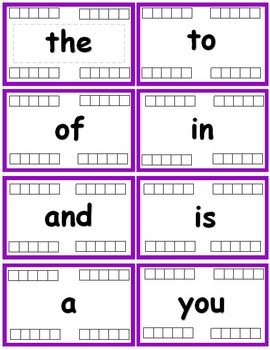 Fry Words - The First Hundred (1-100) Flash cards with Data Tracking - RF.K.3