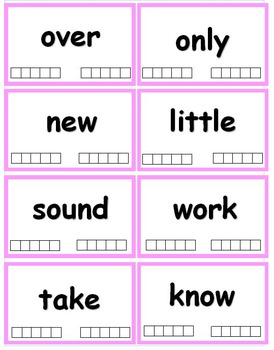 Fry Words - The Second Hundred (101-200) Flash cards with Data Tracking - RF.K.3