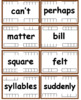 Fry Words - The Sixth Hundred (501-600) Flash cards with Data Tracking - RF.K.3,