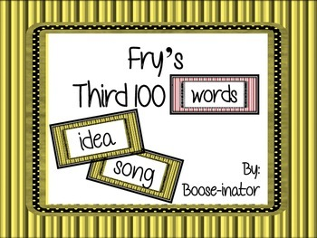 Fry Words - Third 100