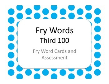 Fry Words - Third 100 Flash Cards