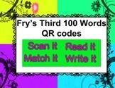 Fry Words Third 100 QR codes - Scan, Read, Match, Write