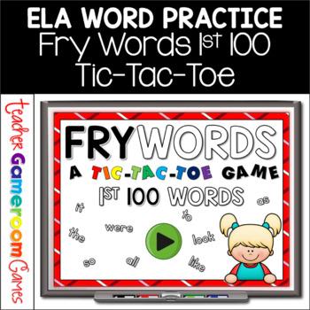 Fry Words Tic-Tac-Toe Set - 1st 100 Words