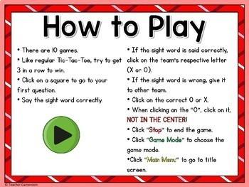Fry Words Tic-Tac-Toe Set - 1st 27 Words Freebie