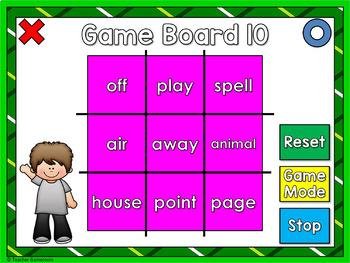 Fry Words Tic-Tac-Toe Set - 2nd 100 Words