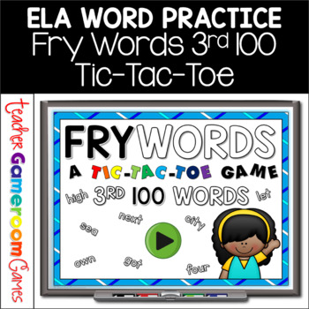 Fry Words Tic-Tac-Toe Set - 3rd 100 Words