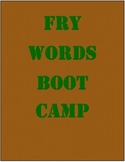 Fry Words Boot Camp