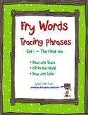 Fry Words Tracing Phrases Set 1 - The First 100 - Distance