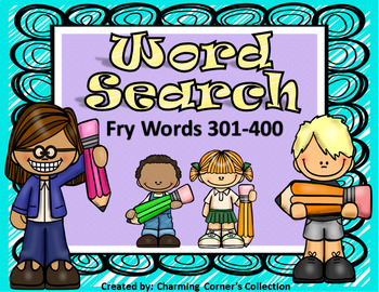 Fry Words (Word Search ~ Set 4)