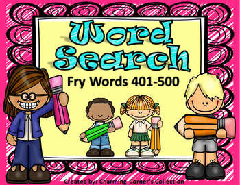 Fry Words (Word Search ~ Set 5)