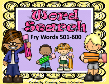 Fry Words (Word Search ~ Set 6)
