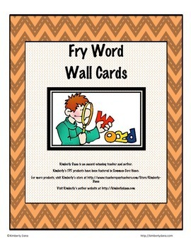 Fry (Two-for-One) Flashcards and Word Wall Cards Jumbo Bun