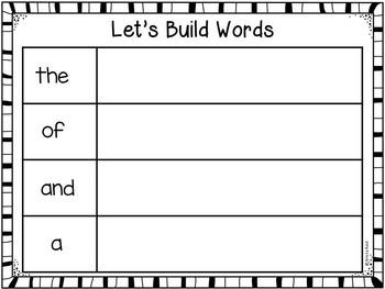 Sight Words - Fry Words - Word Work