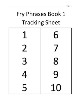 Fry Words and Phrases Book