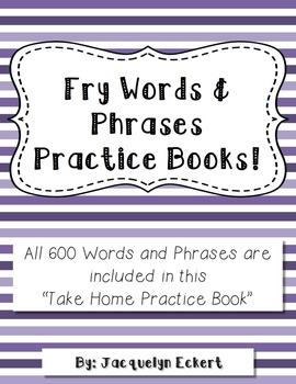 Fry Words and Phrases Practice Book - 600 Words & Phrases