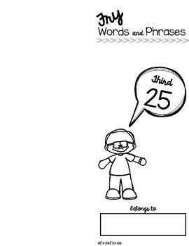 Fry Words and Phrases: The Third 25 Booklet