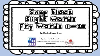Fry Words in a Snap! Snap Block Sight Words - Fry list 1-25