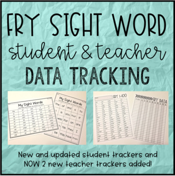 Fry and Dolch Sight Word Student & Teacher Data Trackers BUNDLE