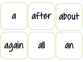 Fry and Dolch sight words flash cards