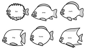 Fry list sight words 301-400 Fishing Game