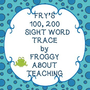Fry's 100, 200 Sight Word Trace