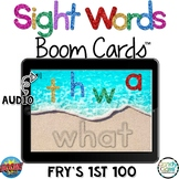 Fry's 100 Digital Sight Word Boom Cards Distance Learning