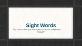 Fry's 100 Sight Word PowerPoint with action slides
