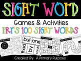 Fry's 100 Sight Words Games & Activities
