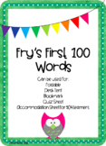 Fry's 100 Sight Words/Most Frequently Used Words