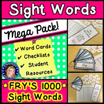 Fry's 1000 Sight Words Mega Pack
