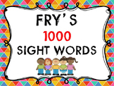 Fry's 1000 Sight Words Session 51 - 100