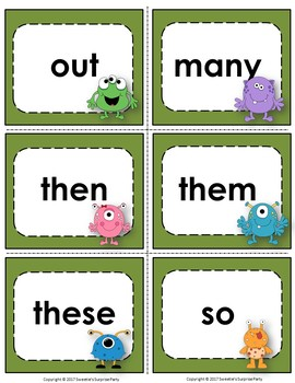 Fry's 1st 100 Flash Cards - Monster Theme