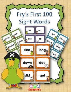 Fry's 1st 100 Flash Cards - Pirates