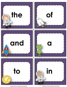 Fry's 1st 100 Flash Cards - Space Theme