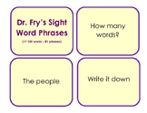 Fry's Sight Word Phrases - First 100