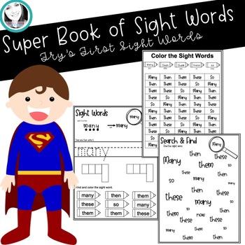 Fry's 1st 100 Sight Word Workbook Growing Bundle