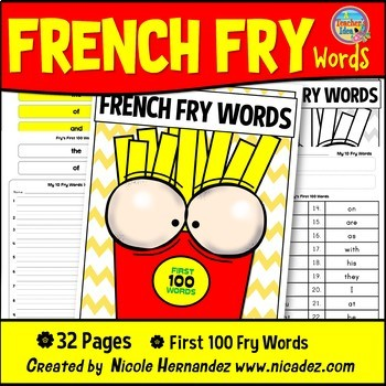 Fry Sight Words: Fry's 1st 100 Sight Words on French Fries