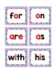 Fry's 1st 100 Word Wall Cards: Rainbow Chevron (red vowels)