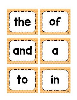 Fry's 1st 100 Word Wall Cards: Rainbow Chevron