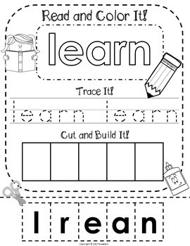Fry's 2nd 100 Words - Read Trace Build Worksheets