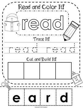 Fry's 2nd 100 Words - Read Trace Build NO PREP Worksheets