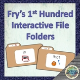 Fry's 1st Hundred Sight Words - Interactive File Folders (Lapbooks) with Visuals