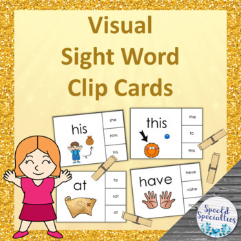 Fry's 1st Hundred Sight Words - Visual Clip Cards