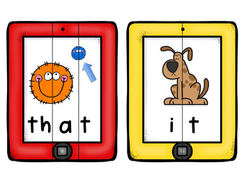 Fry's 1st Hundred Sight Words - Visual Phonological Awareness Puzzles