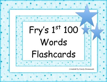 Fry's 1st and 2nd 100 Sight Words Flashcards