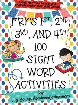 Fry's 1st and 2nd Hundred Sight Word Activities